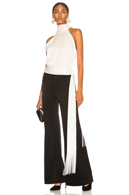 Image 5 of GALVAN Crepe Vesper Trouser in Black & White