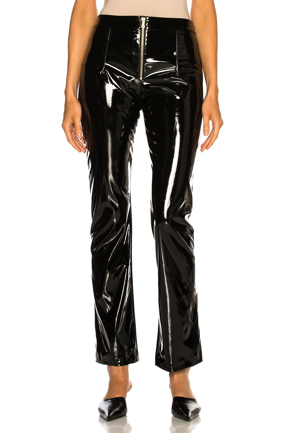 Image 1 of GALVAN Gloss Trousers in Black