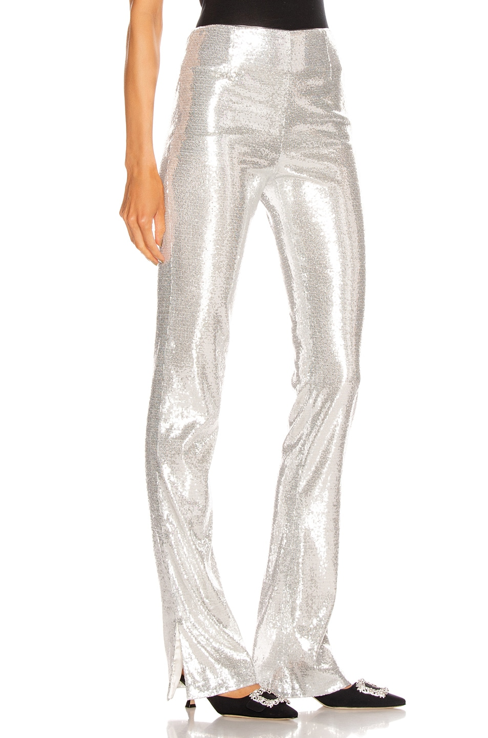 Image 2 of GALVAN Ando Slashed Trouser Pant in Silver