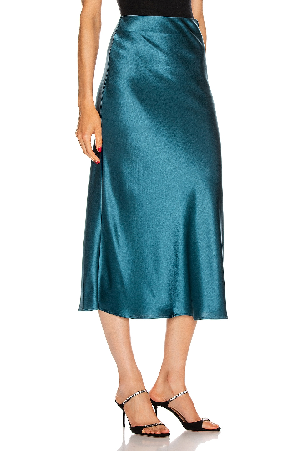 Image 2 of GALVAN Valletta Skirt in Peacock