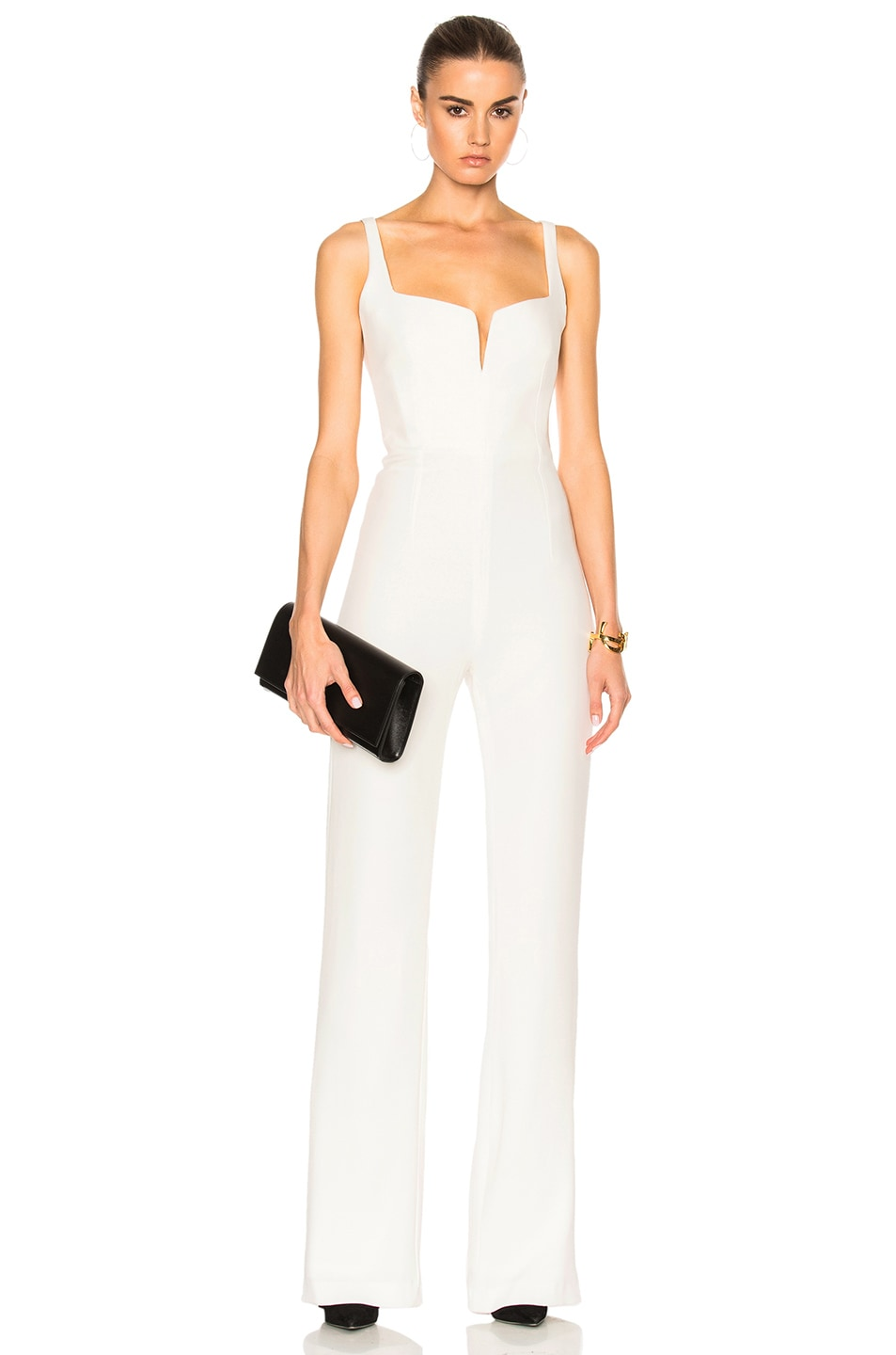 Image 1 of GALVAN Signature Corset Jumpsuit in White