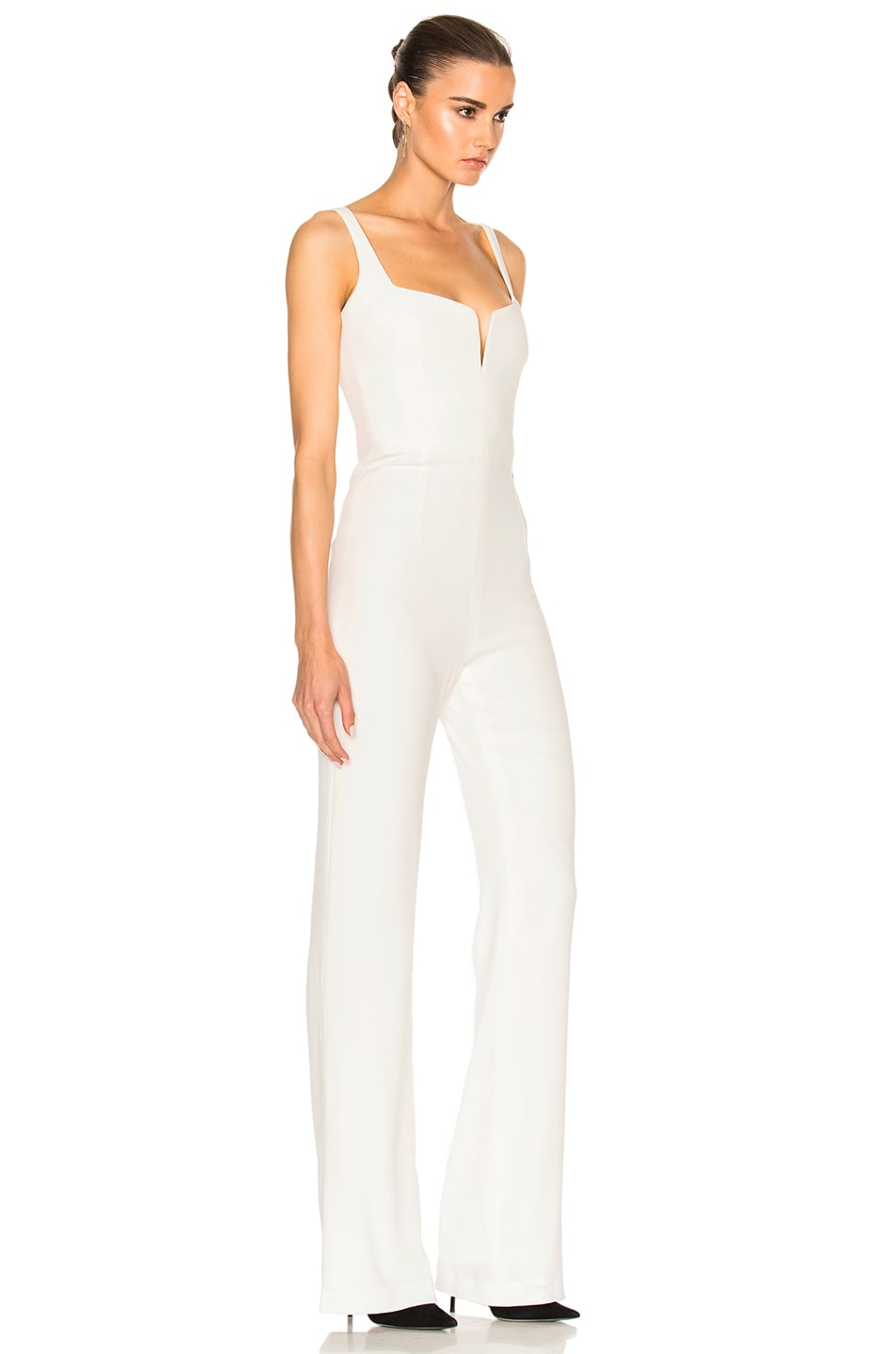 Image 3 of GALVAN Signature Corset Jumpsuit in White