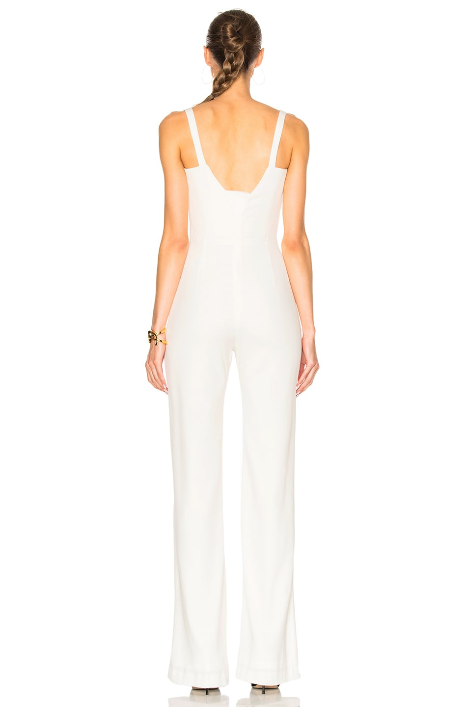 Image 4 of GALVAN Signature Corset Jumpsuit in White