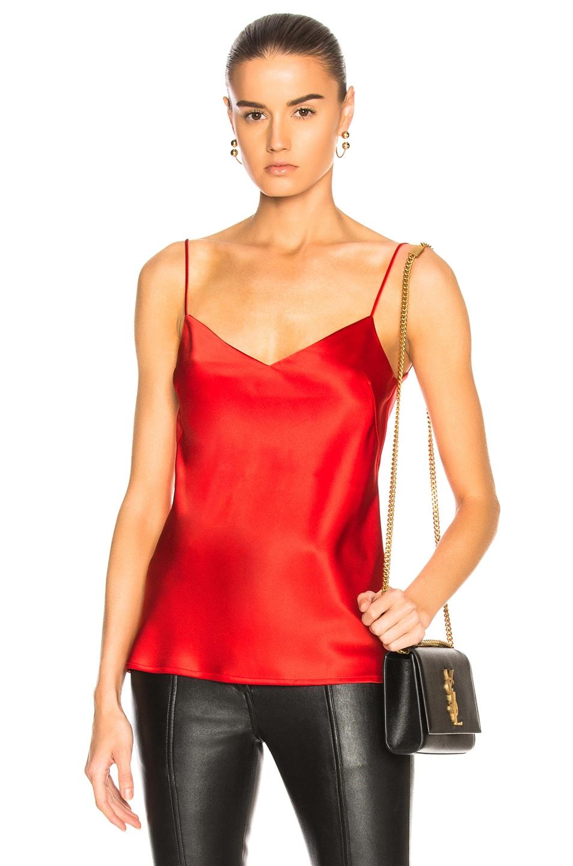GALVAN V-Neck Slip Camisole in Red