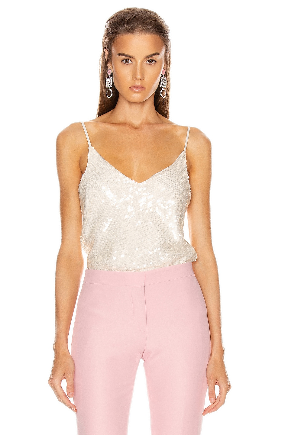 Image 1 of GALVAN Moonlight Camisole Top in White