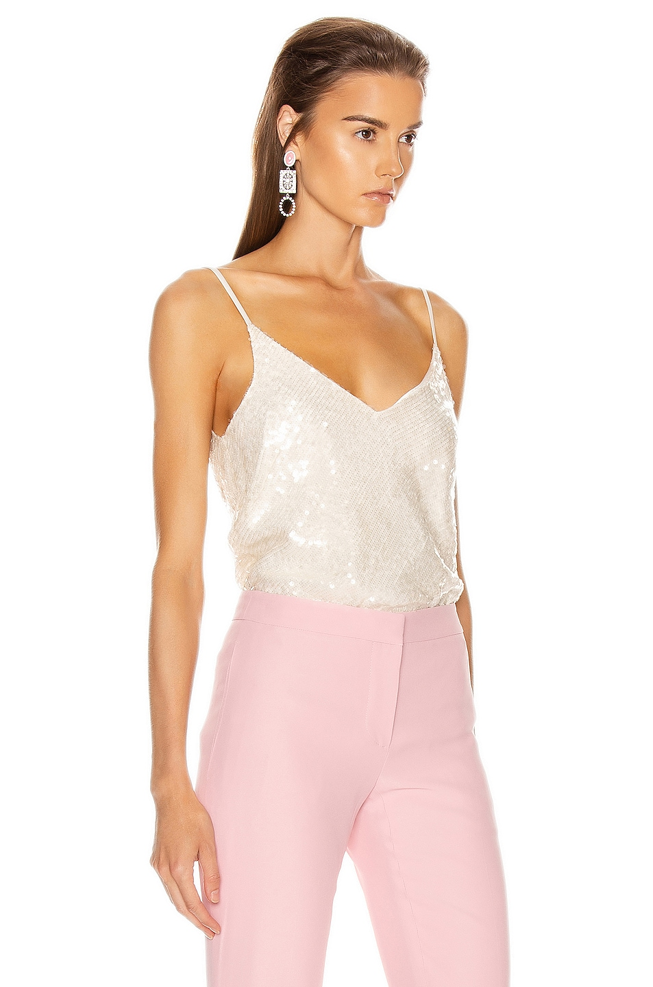 Image 2 of GALVAN Moonlight Camisole Top in White