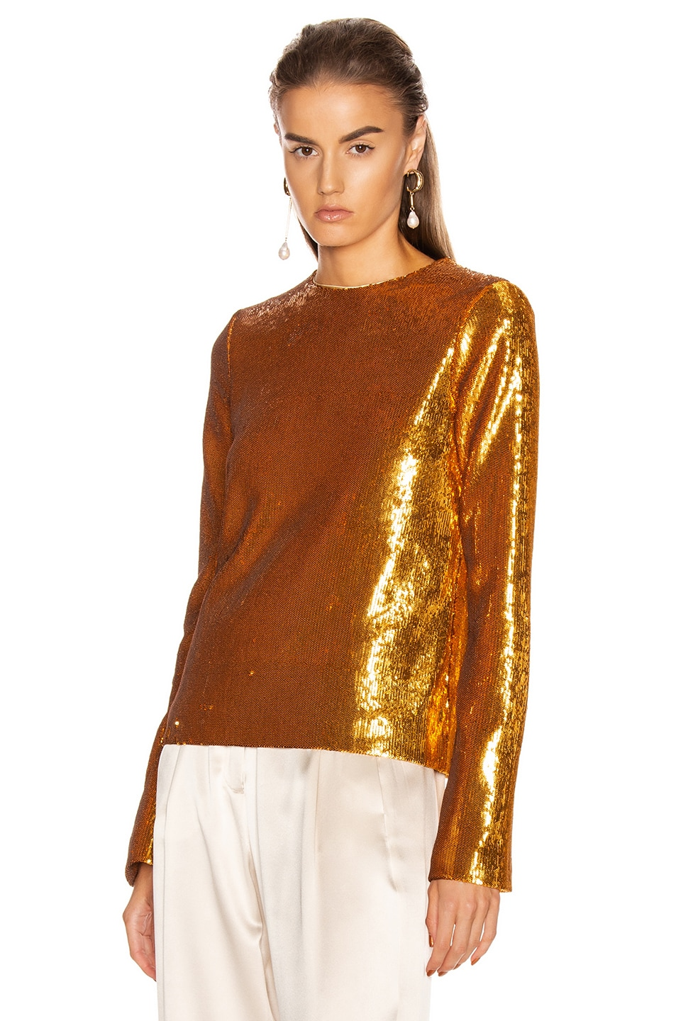 Image 1 of GALVAN Gilded Clara Top in Burnished Gold