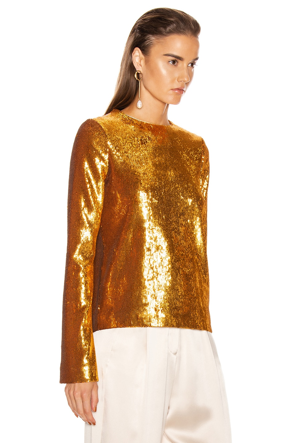 Image 2 of GALVAN Gilded Clara Top in Burnished Gold