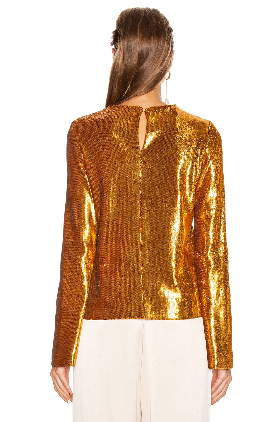 Image 3 of GALVAN Gilded Clara Top in Burnished Gold