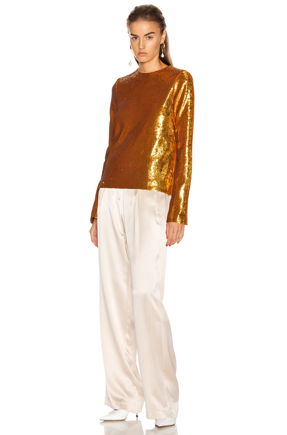 Image 4 of GALVAN Gilded Clara Top in Burnished Gold
