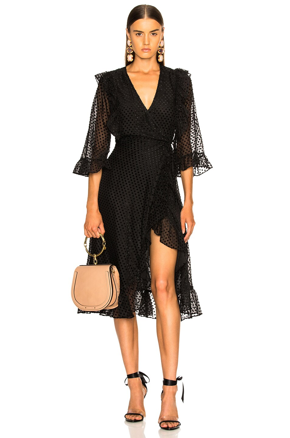 Image 1 of Ganni Jasmine Dress in Black