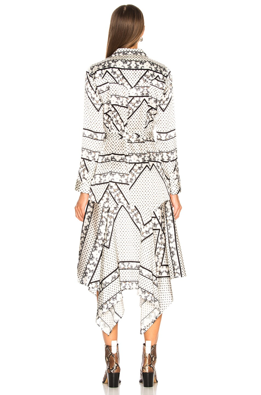 Image 4 of Ganni Silk Stretch Satin Dress in Egret