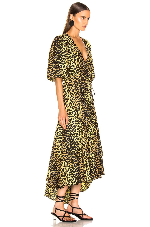 Ganni Printed Cotton Dress Minion Yellow lovely