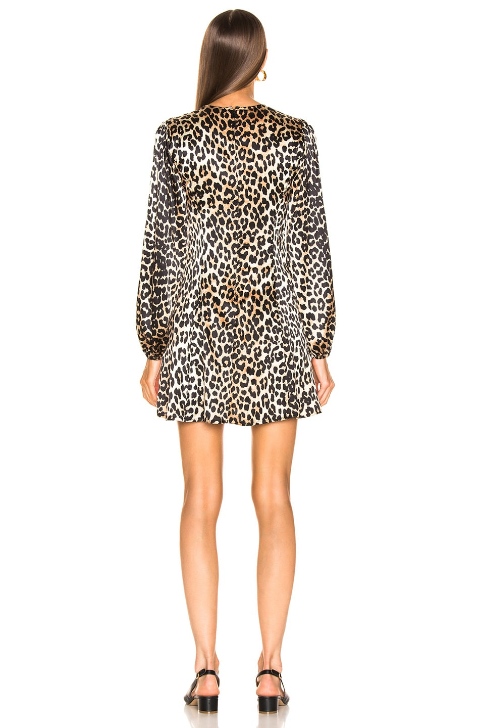 Image 3 of Ganni Blakely Silk Dress in Leopard