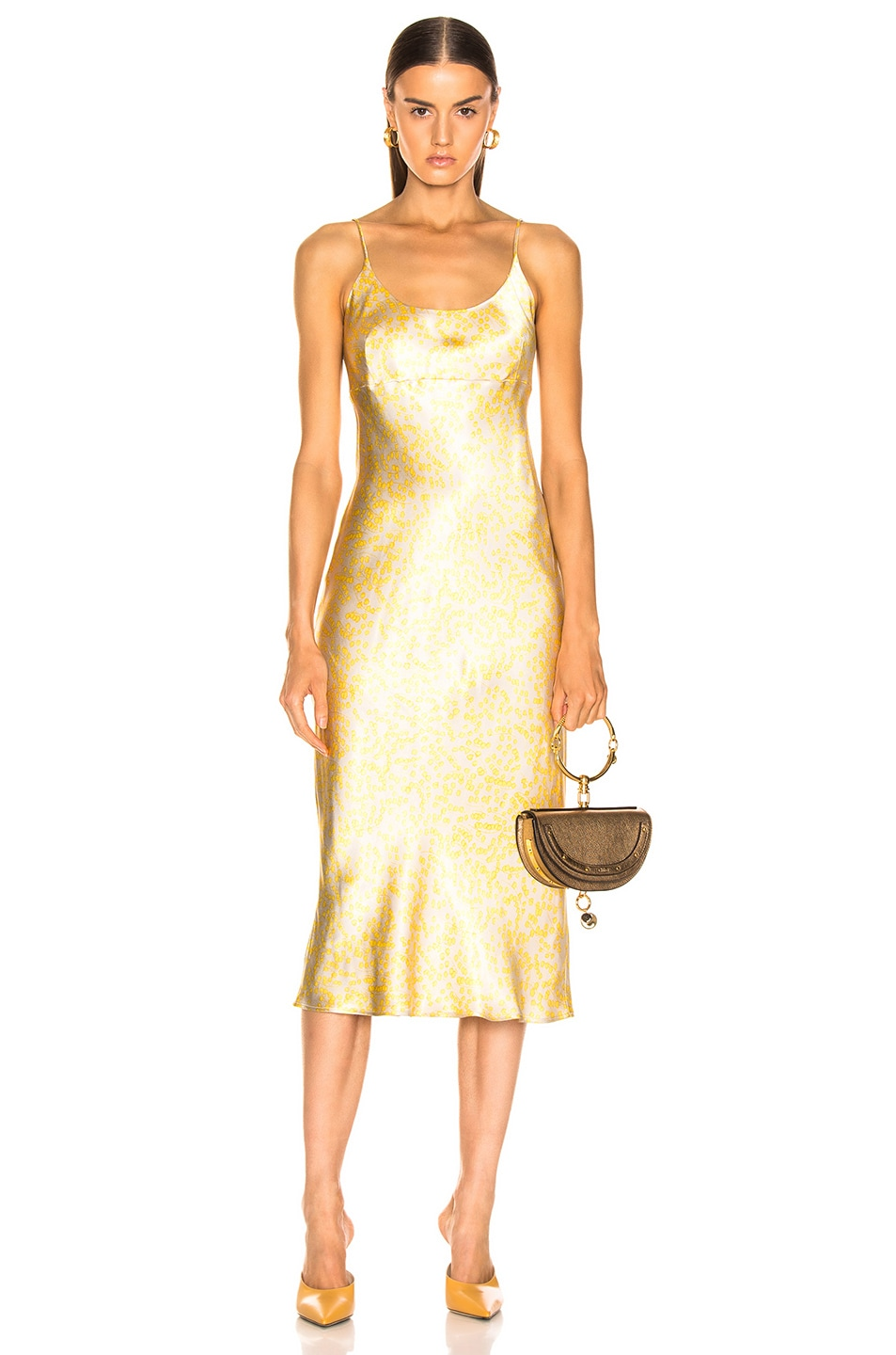 Image 1 of Ganni Cameron Dress in Tapioca