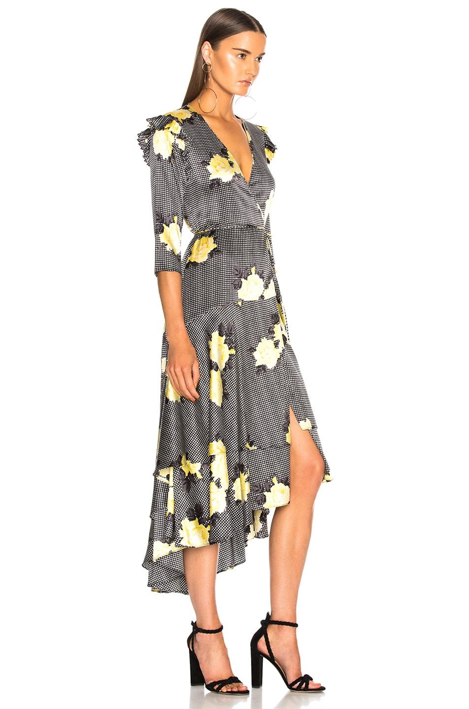Image 2 of Ganni Calla Silk Dress in Black