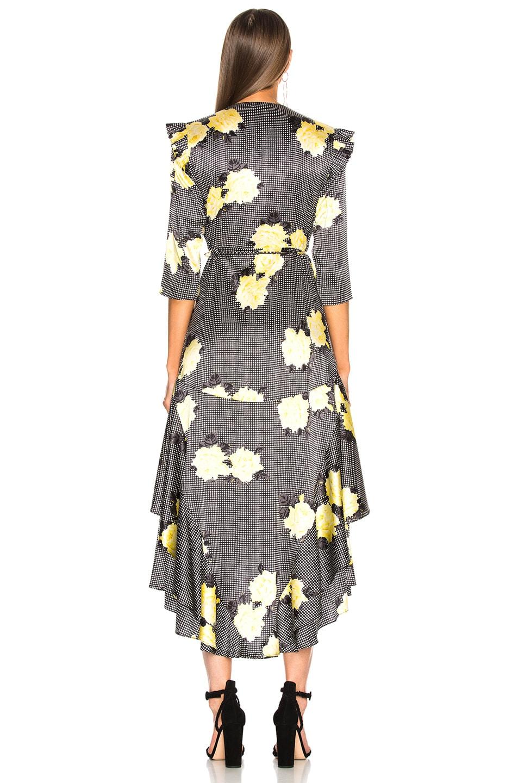 Image 3 of Ganni Calla Silk Dress in Black