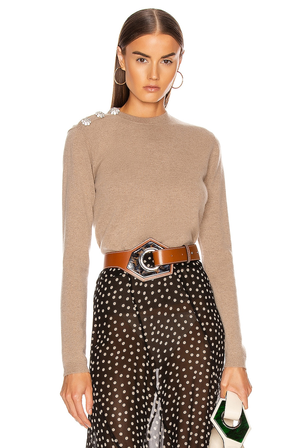 Image 1 of Ganni Cashmere Knit Sweater in Tannin
