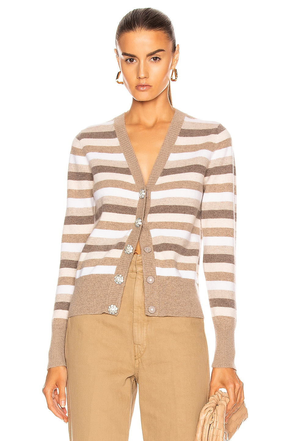 Image 1 of Ganni Cashmere Knit Cardigan in Tannin
