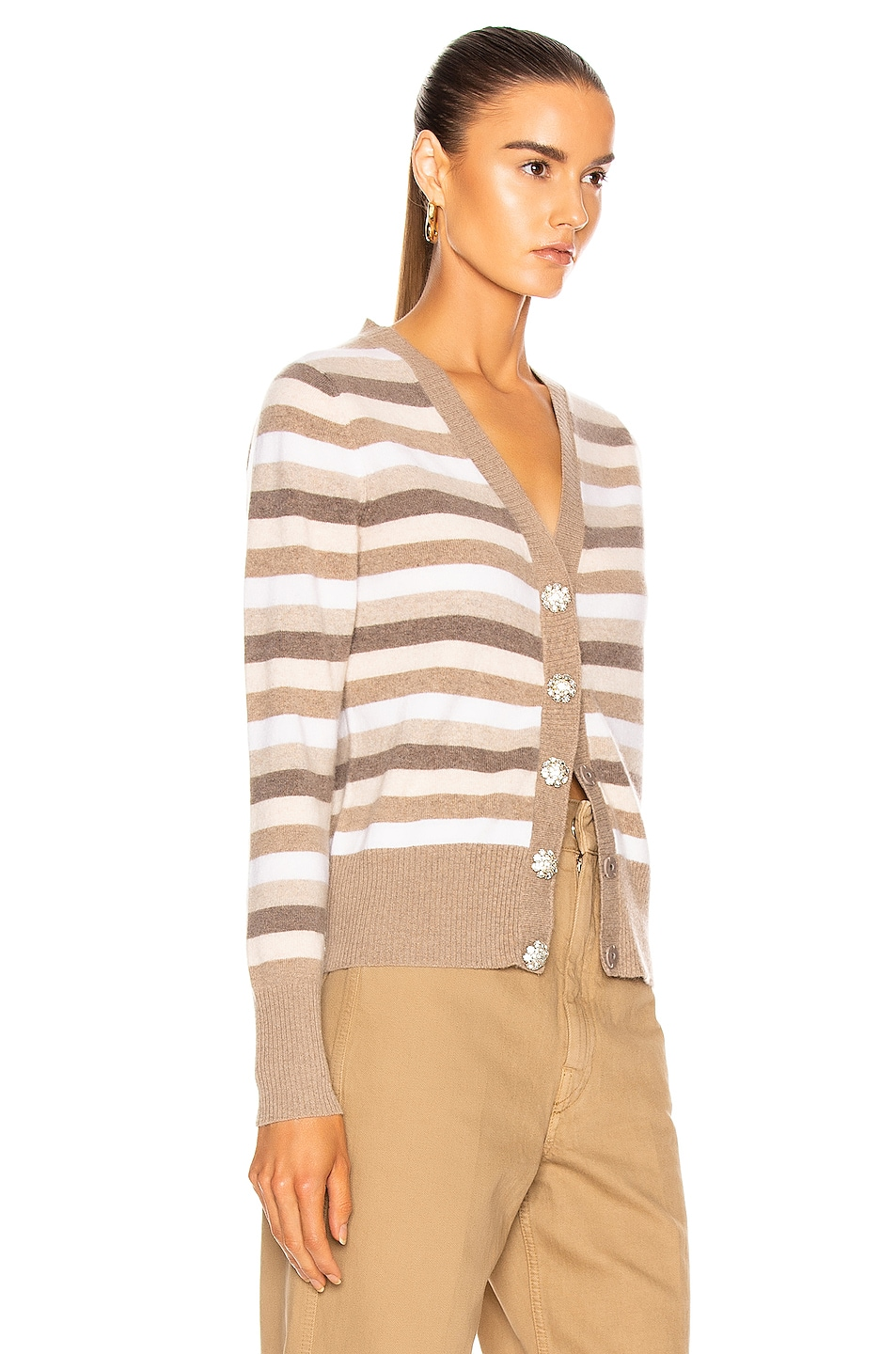 Image 2 of Ganni Cashmere Knit Cardigan in Tannin