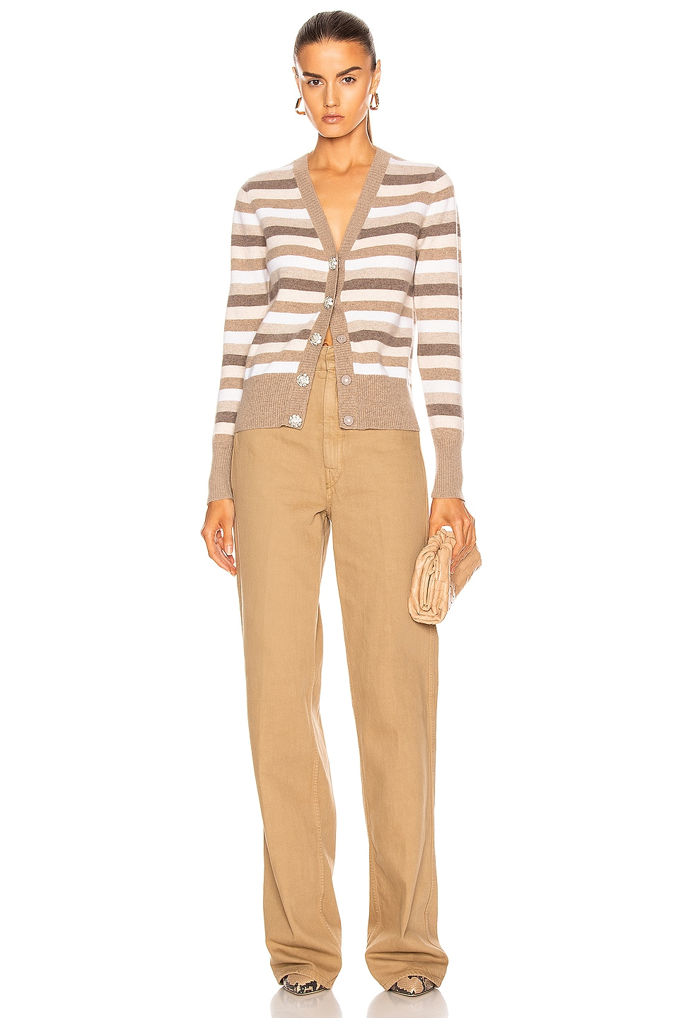 Image 4 of Ganni Cashmere Knit Cardigan in Tannin