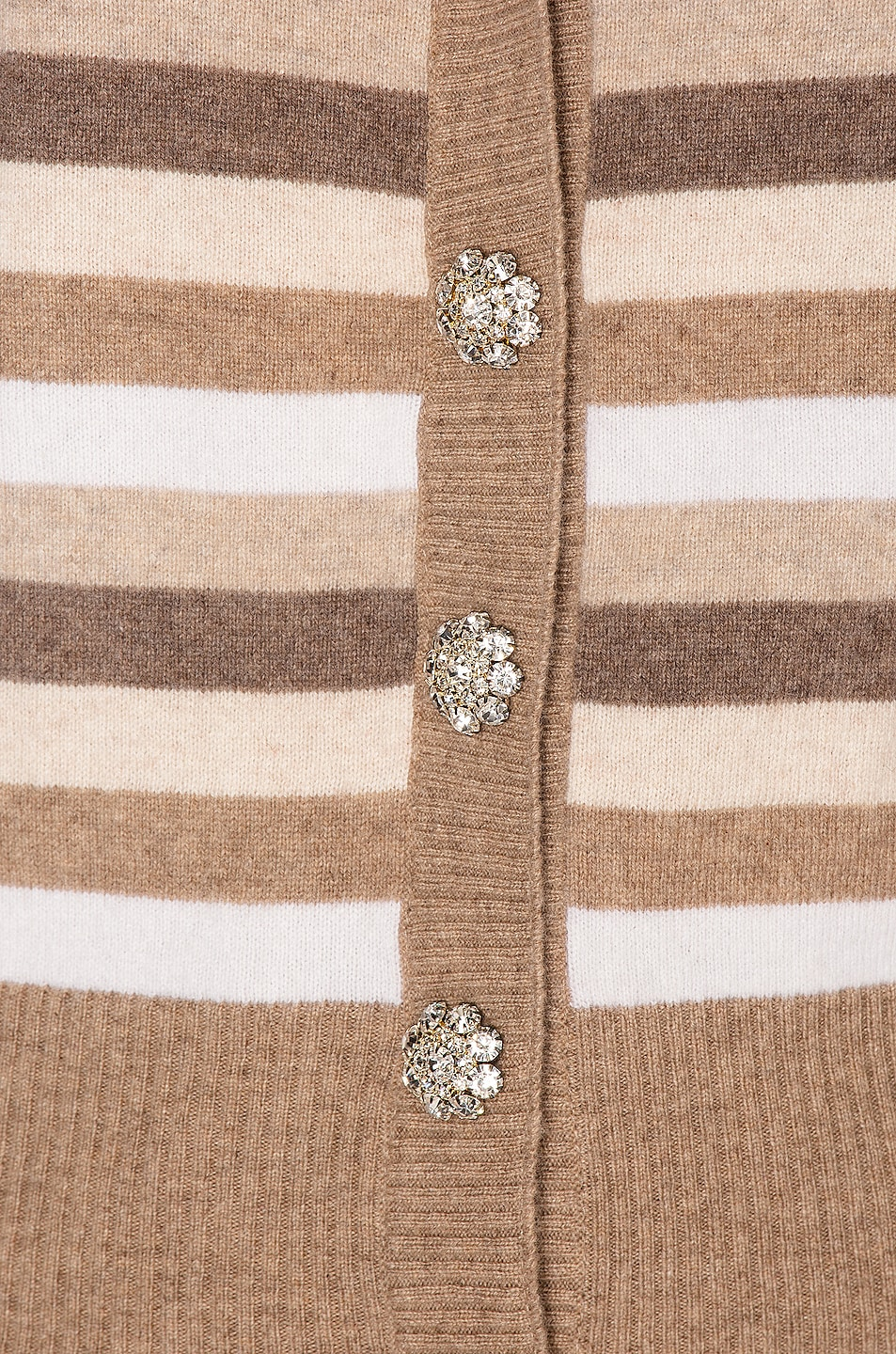 Image 5 of Ganni Cashmere Knit Cardigan in Tannin