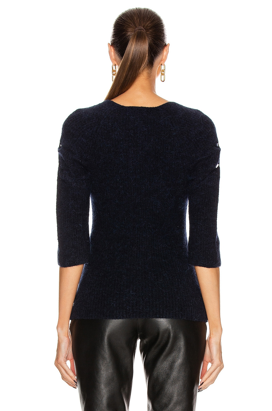 Image 3 of Ganni Soft Wool Knit Top in Sky Captain