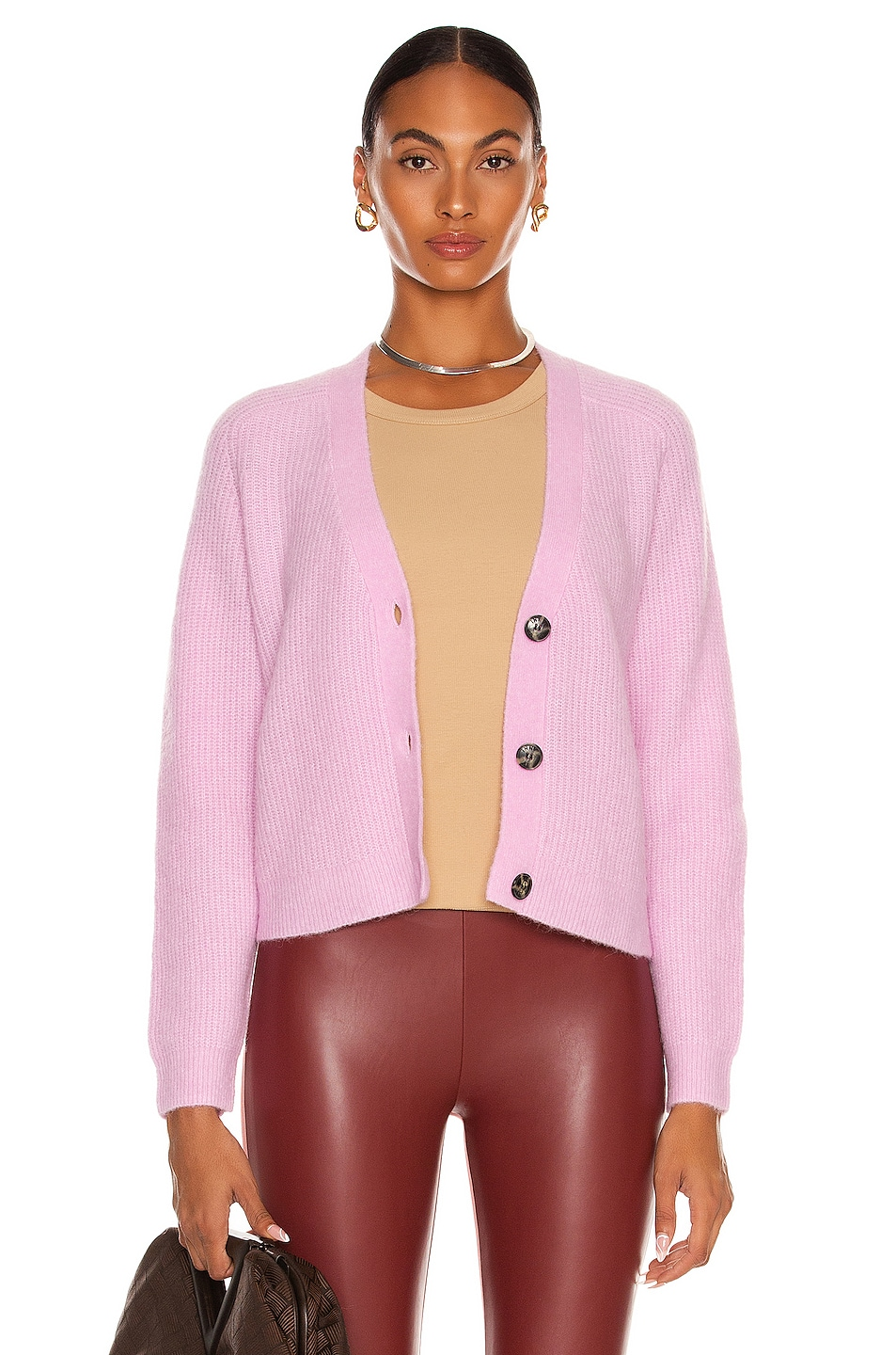 Image 1 of Ganni Soft Wool Knit Sweater in Pale Lilac