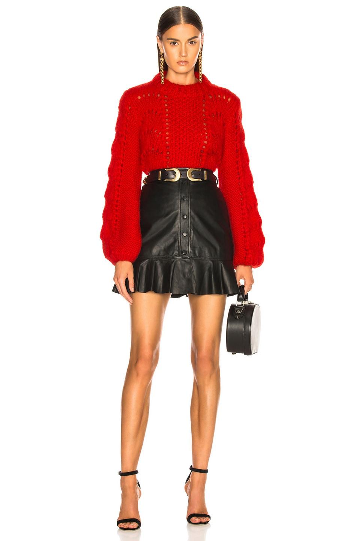 Image 5 of Ganni Julliard Mohair Sweater in Fiery Red