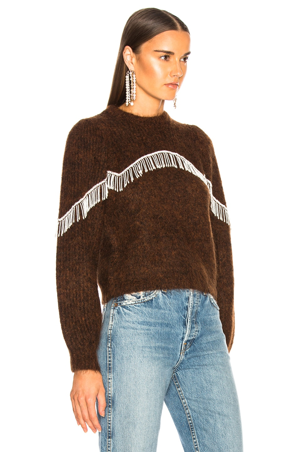 Image 3 of Ganni Heavy Soft Wool Sweater in Caramel Cafe