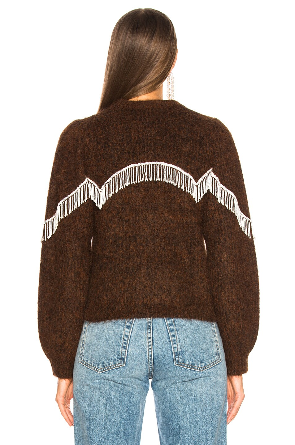 Image 4 of Ganni Heavy Soft Wool Sweater in Caramel Cafe