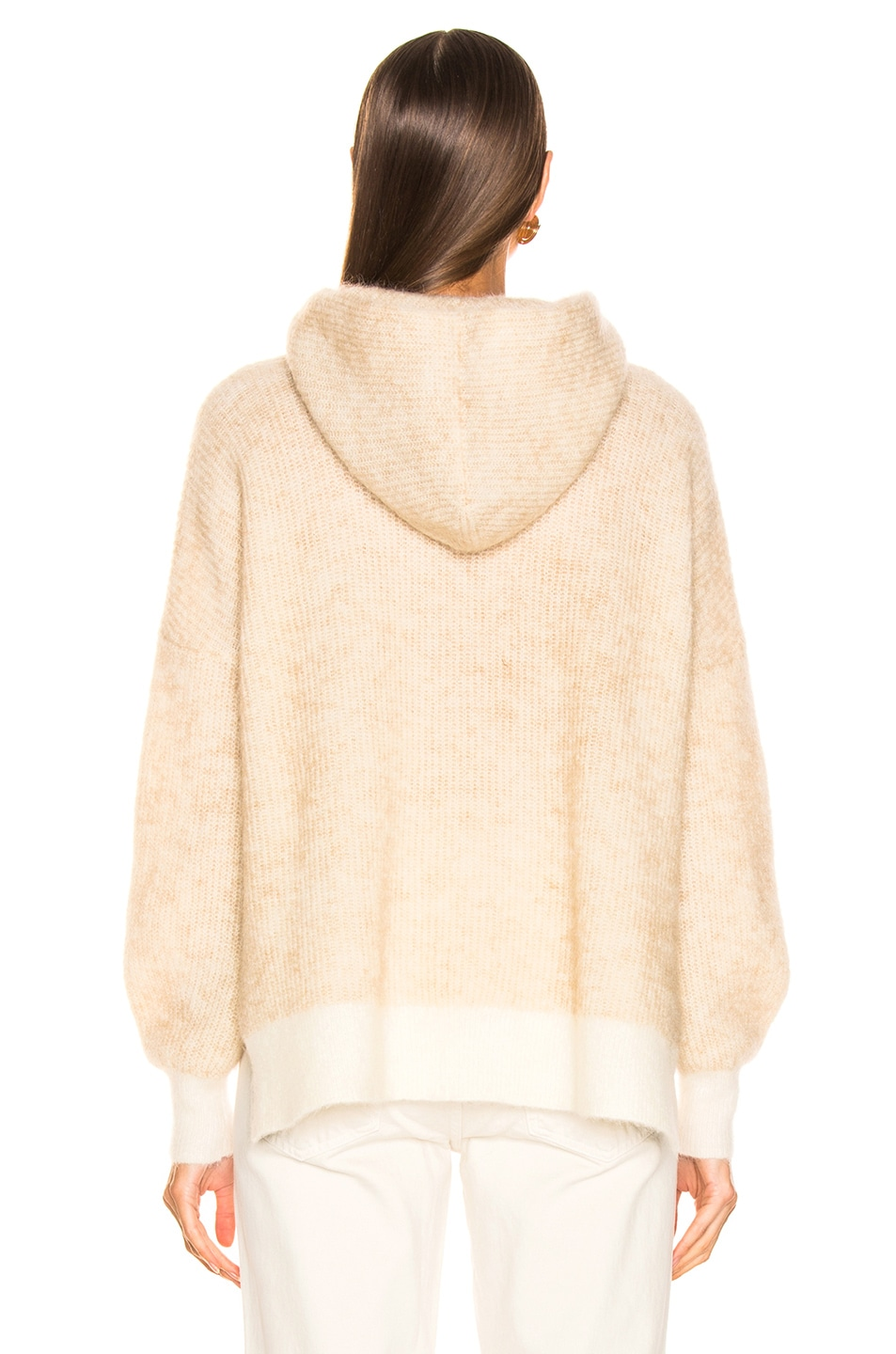 Image 3 of Ganni Soft Wool Knit Hoodie in Tapioca