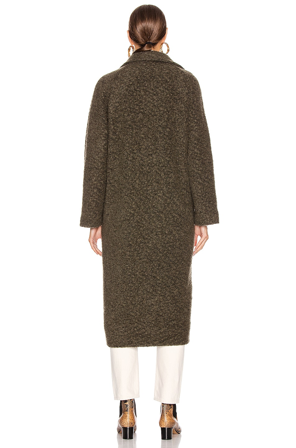 Image 4 of Ganni Boucle Wool Coat in Kalamata