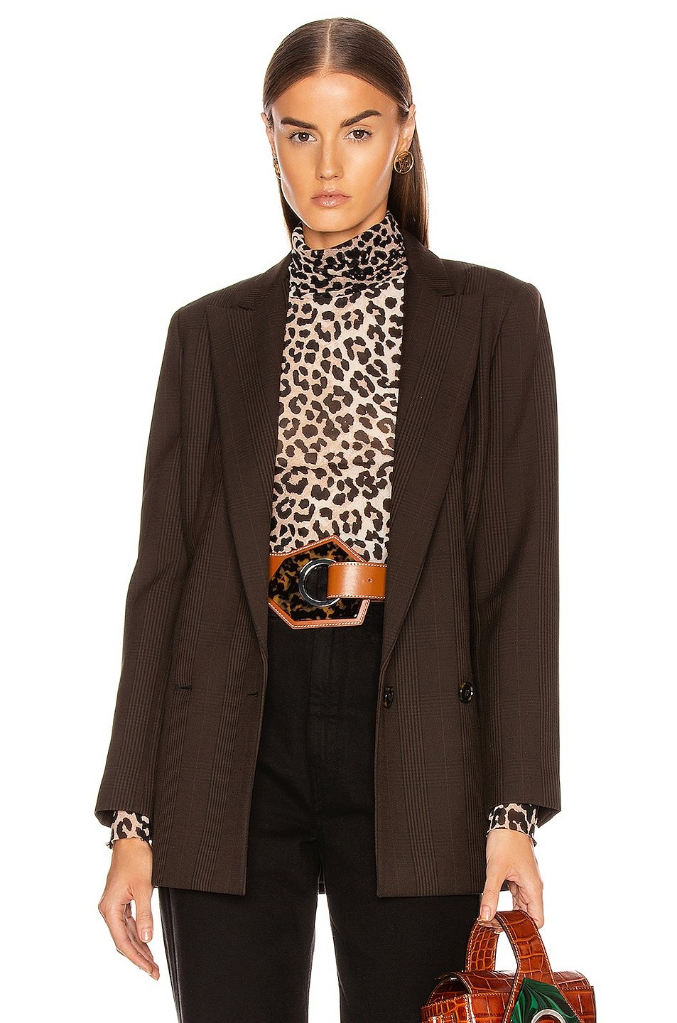 Image 1 of Ganni Suiting Blazer in Mole