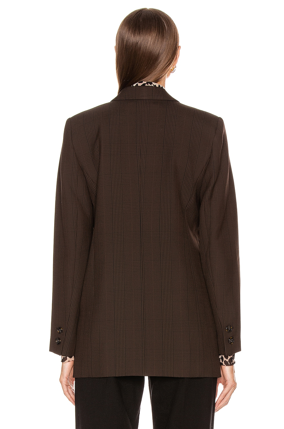 Image 4 of Ganni Suiting Blazer in Mole