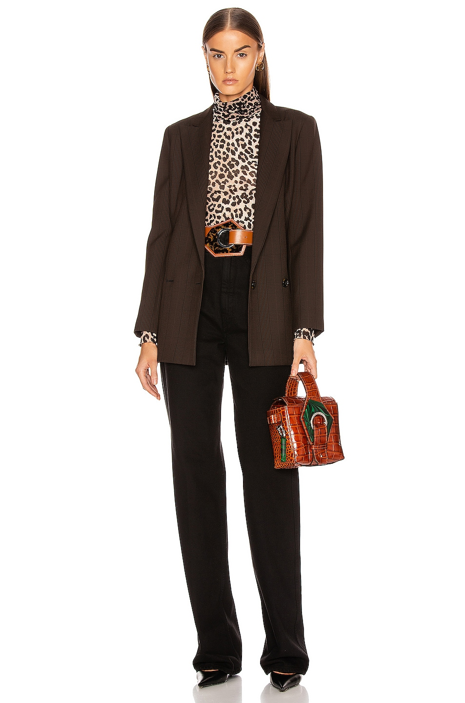 Image 5 of Ganni Suiting Blazer in Mole