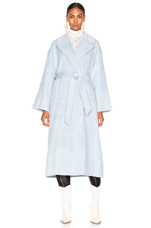 Image 2 of Ganni Woodside Coat in Serenity Blue