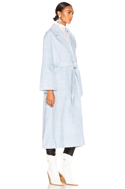 Image 3 of Ganni Woodside Coat in Serenity Blue