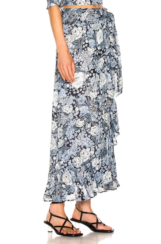 Image 2 of Ganni Printed Georgette Skirt in Heather