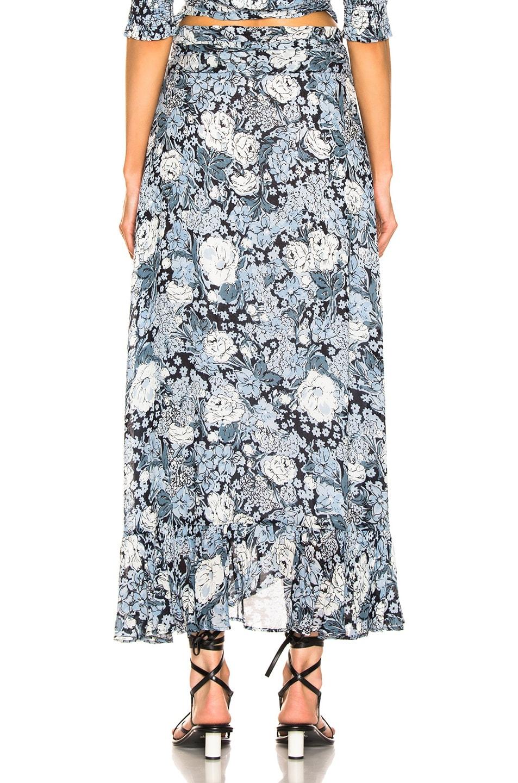 Image 3 of Ganni Printed Georgette Skirt in Heather