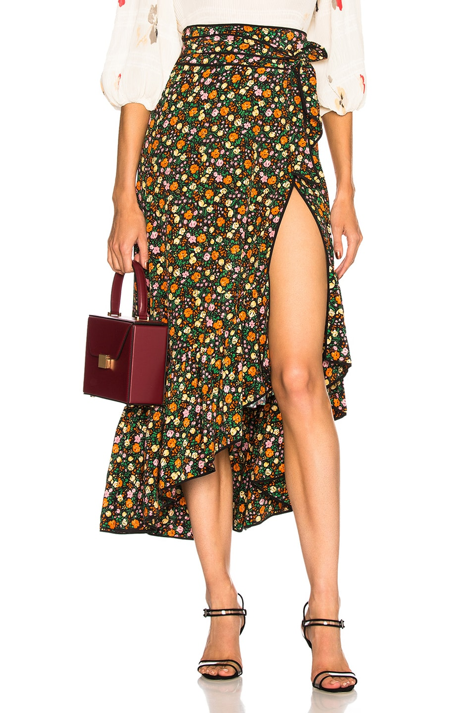 Ganni floral ruffle wrap skirt For Sale Best Place YsTXX51oN