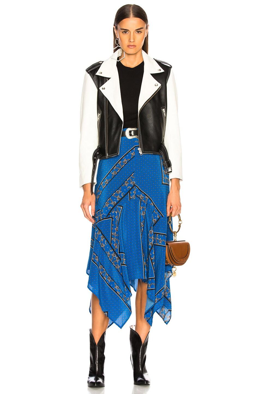 Image 4 of Ganni Sandwashed Silk Skirt in Lapis Blue