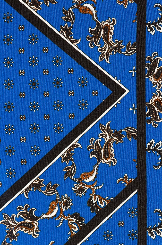 Image 5 of Ganni Sandwashed Silk Skirt in Lapis Blue