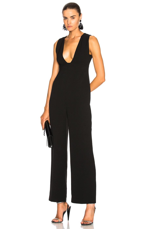 eb1d14dbb856 Image 1 of Ganni Clark Jumpsuit in Black