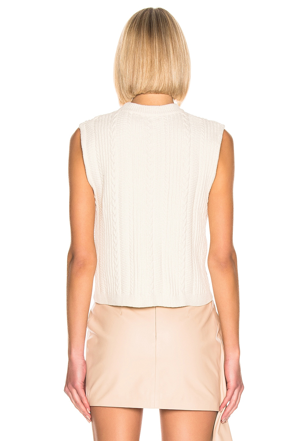 Image 3 of Ganni Cotton Knit Top in Egret