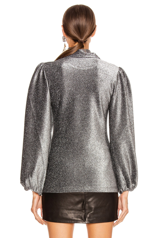 Image 3 of Ganni Lurex Jersey Top in Phantom
