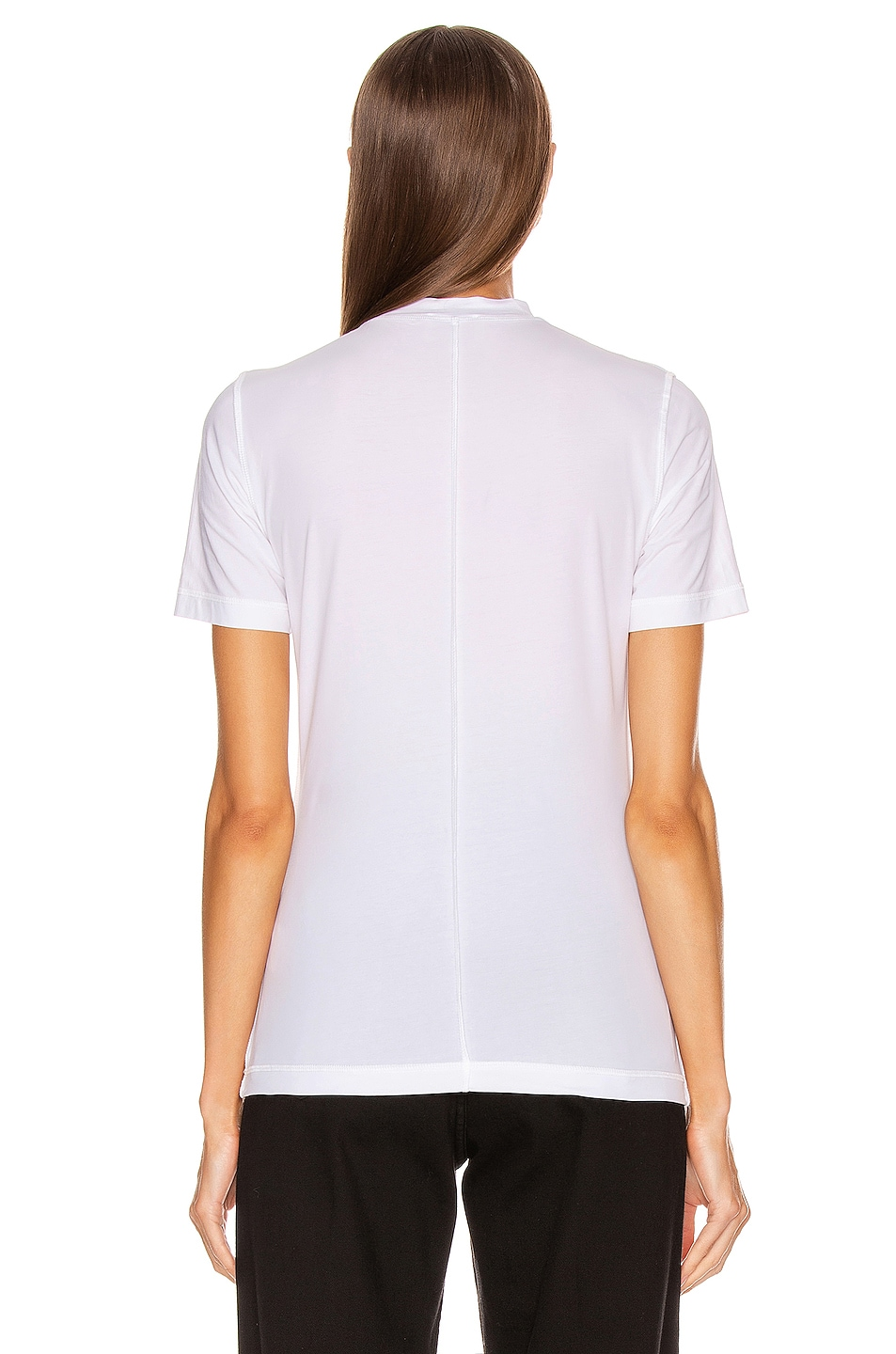 Image 3 of Ganni Light Stretch Jersey Tee in Bright White