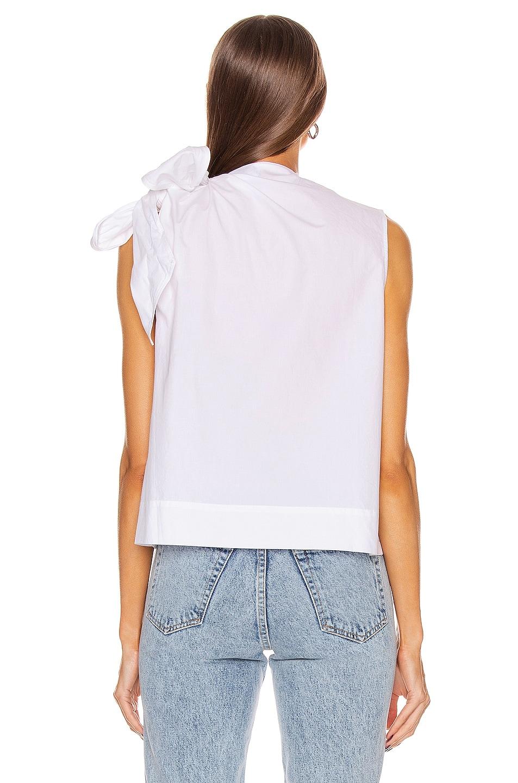 Image 4 of Ganni Cotton Poplin Top in Bright White