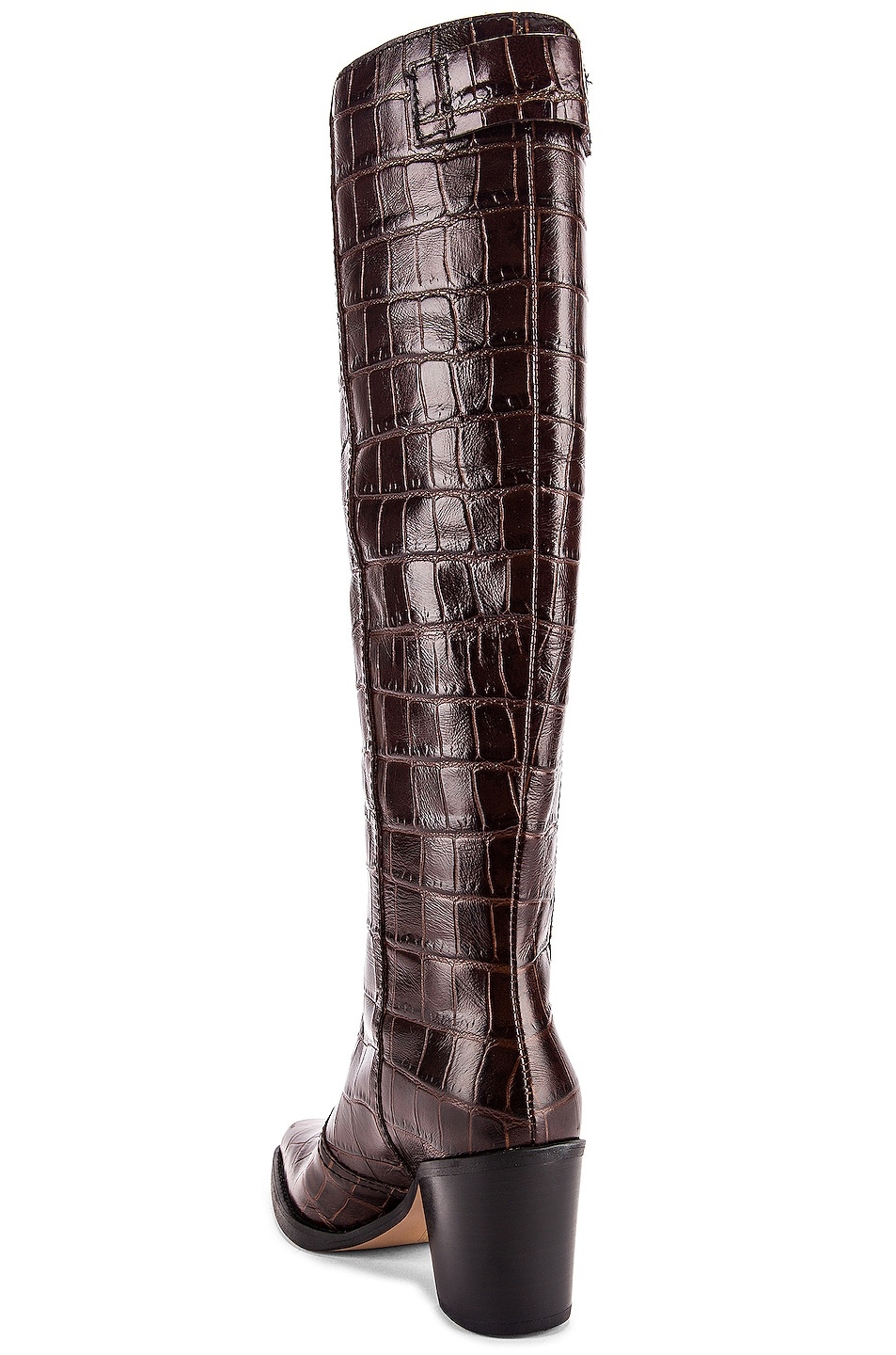 Image 3 of Ganni Western Knee High Boots in Chicory Coffee