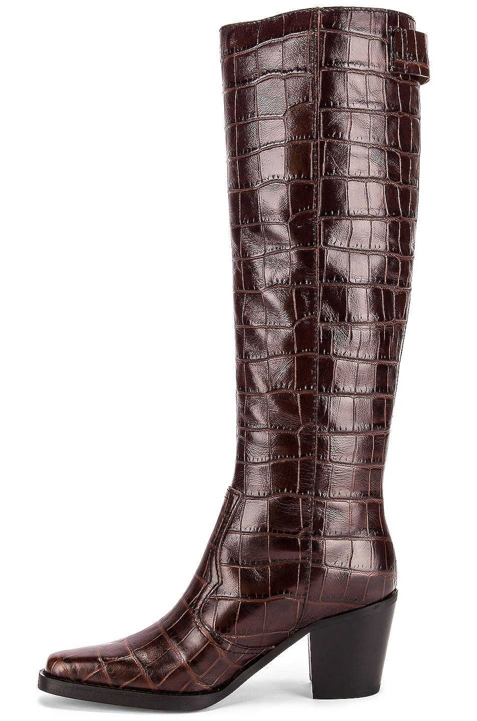 Image 5 of Ganni Western Knee High Boots in Chicory Coffee
